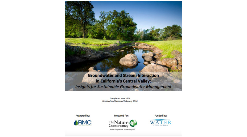 Groundwater and Stream Interaction in California's Central Valley