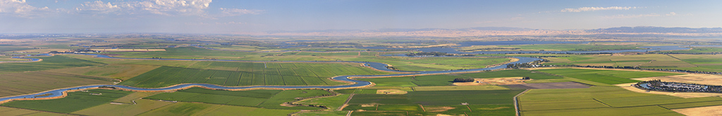 Aerial Panorama of the Sac-San Joaquin River Delta